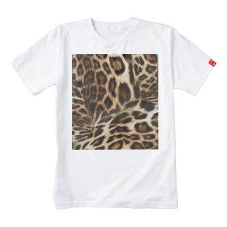 Spiffy Leopard Spots Leather Grain Look Zazzle HEART T-Shirt