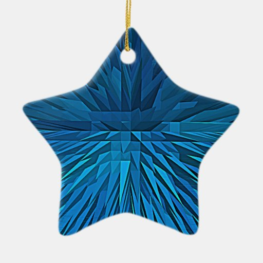 spike Double-Sided star ceramic christmas ornament