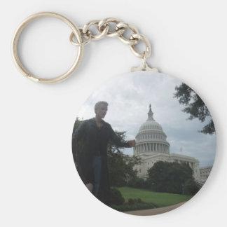 Spike in Washington Basic Round Button Keychain