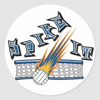 Spike It Classic Round Sticker