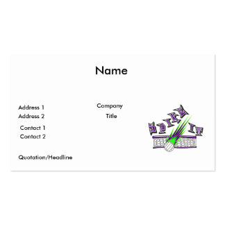 spike it vector volleyball graphic design Double-Sided standard business cards (Pack of 100)