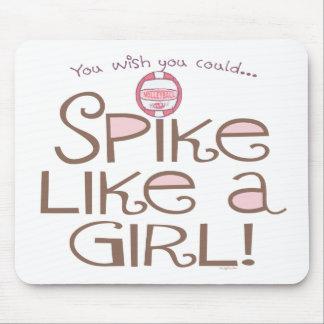 Spike Like a Girl Mouse Pad