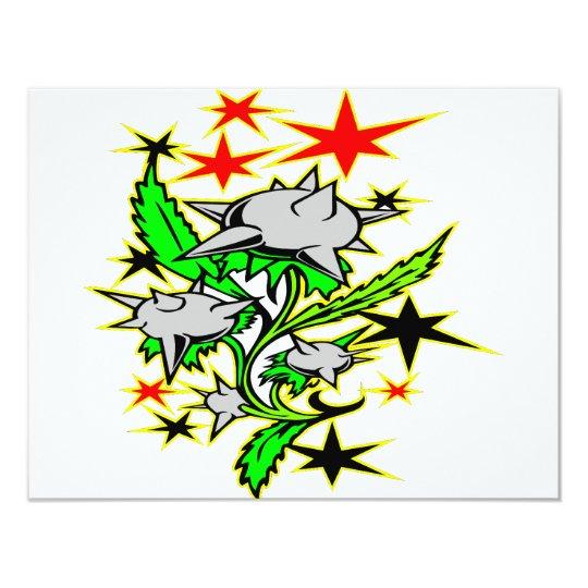 Spike Mace Plant Tattoo Card