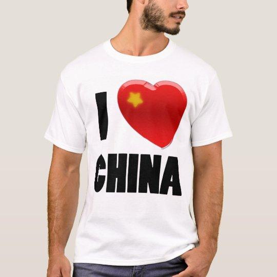 spike tee007 I Love China T-Shirt