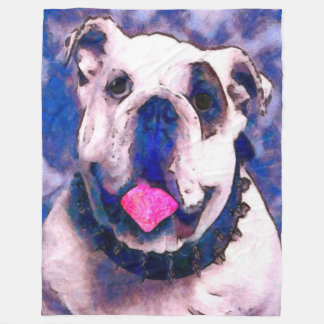 Spike the Bulldog Fleece Blanket