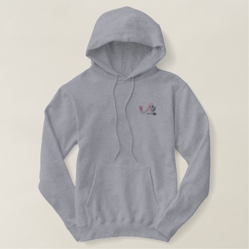 Spike the Dragon Embroidered Hoodie