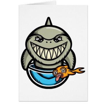 Beach Themed Spike the Shark Card