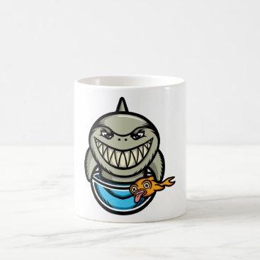 Beach Themed Spike the Shark Coffee Mug