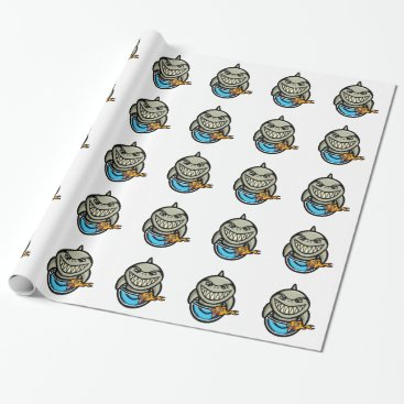 Beach Themed Spike the Shark Wrapping Paper
