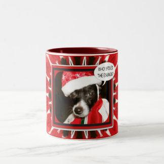 Spiked Eggnog Dog Two-Tone Coffee Mug