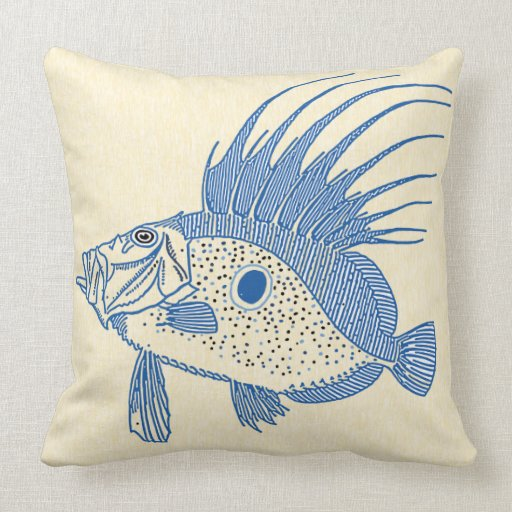 Beach Themed Accent Pillow Pillows For Your House Spiked Fish