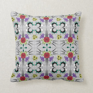 Spiked Floral Throw Pillow