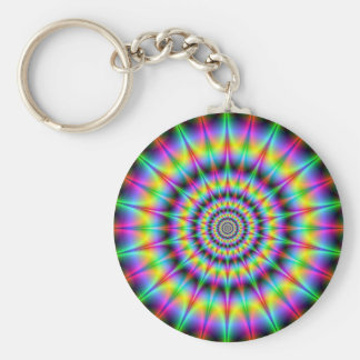 Spiked Psychedelic Rings Keychain