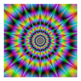 Spiked Psychedelic Rings Poster