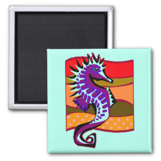 Spiked Purple Seahorse Magnet