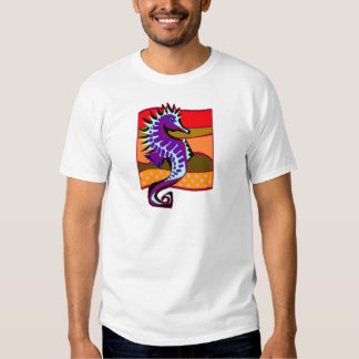 Spiked Purple Seahorse T Shirts