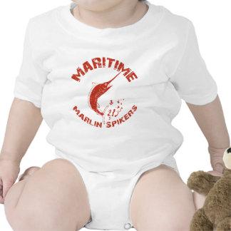 Spikers marítimos de la aguja traje de bebé