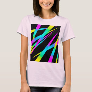Spikes CYMK black T-Shirt