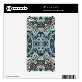 Spikes, Points, and Swirls Skin For iPhone 4S