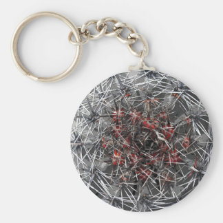 Spikes, Thorns and Needles Plant, Close Up (3) Basic Round Button Keychain