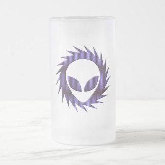 Spikey Alien Frosted Beer Mug