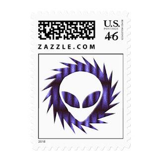 Spikey Alien Postage Stamp