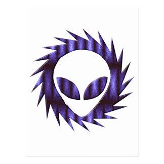 Spikey Alien Postcard