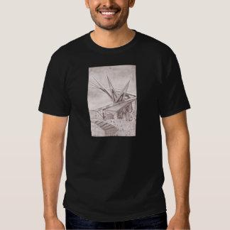 spikey building t-shirt