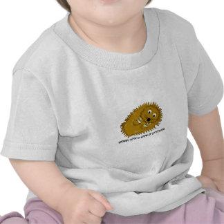 Spikey con un lado de la actitud camisetas