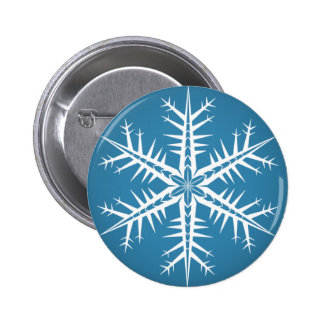 Spikey Snowflake - Pin Button