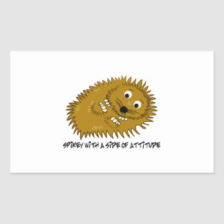 Spikey With A Side Of Attitude Rectangular Sticker
