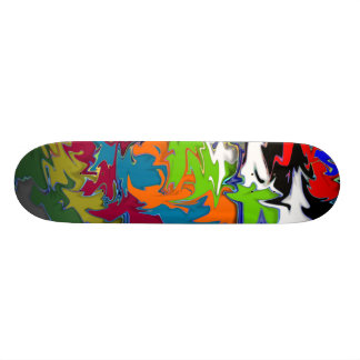 Spiky and Colorful Skateboard