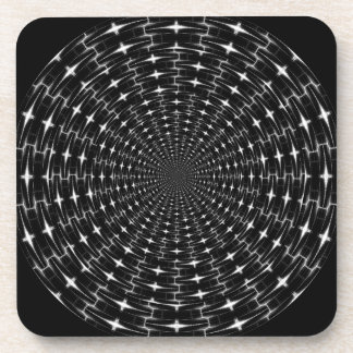 Spiky Black and Gray Shell Inverted Seamless Round Coaster