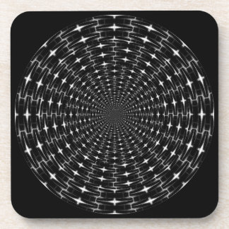 Spiky Black and Gray Shell Inverted Seamless Round Drink Coaster