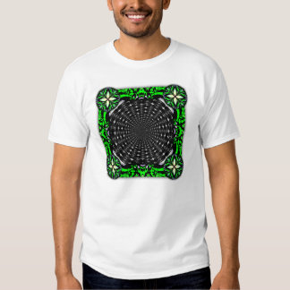 Spiky Black and Gray Shell Inverted Seamless Round T Shirt