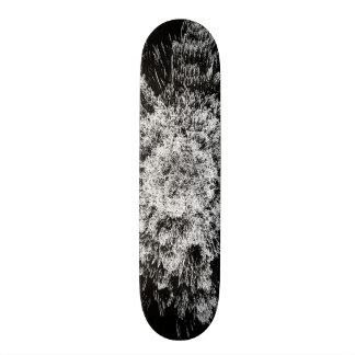 Spiky black and white skateboard deck