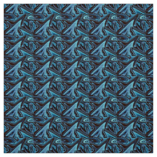 Spiky Blue Sharkfin Fabric
