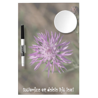 Spiky Clover; Customizable Dry Erase Board With Mirror