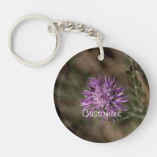 Spiky Clover; Customizable Keychain