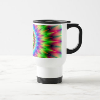 Spiky Color Explosion Travel Mug