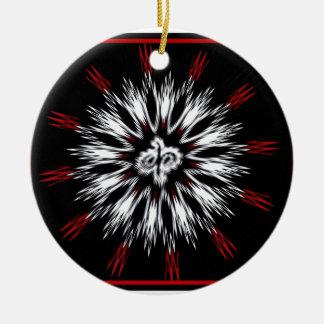 Spiky Designs Ceramic Ornament