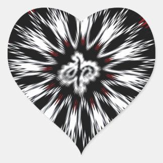 Spiky Designs Heart Sticker