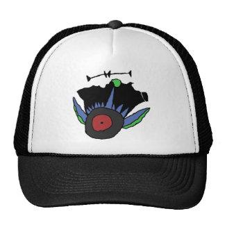 spiky eye trucker hat