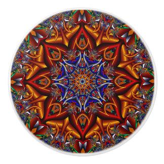 Spiky flower ceramic knob