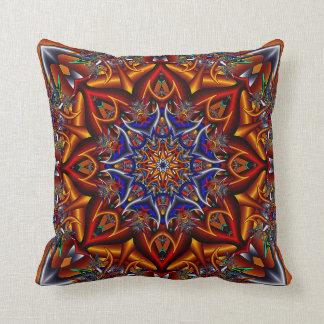 Spiky flower throw pillow