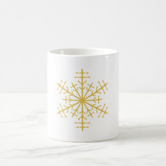 Spiky Gold Winter Christmas Ice Crystal Mug