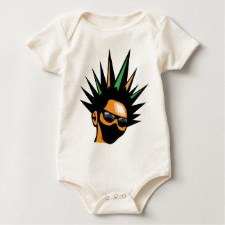 Spiky Hair Baby Bodysuit