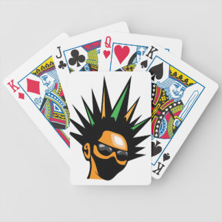 Spiky Hair Bicycle Playing Cards