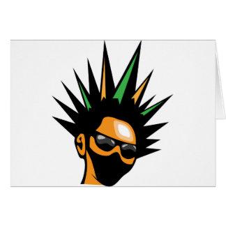 Spiky Hair Card