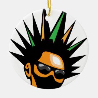 Spiky Hair Ceramic Ornament